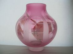 MIND BLOWING Signed ETCHED Glass VASE Complex WINDOW DESIGNS Amazing Masterpiece