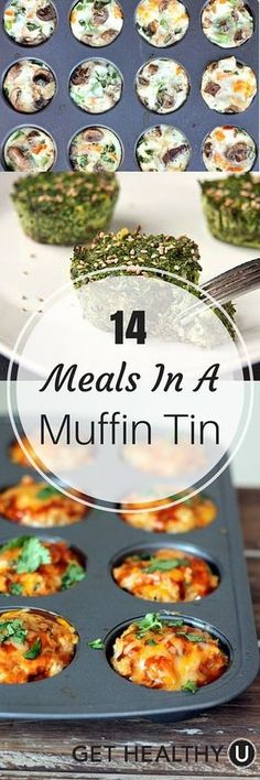 14 Meals In A Muffin Tin – Get Healthy U These 14 muffin tin meals are an easy way to create unique and versatile dishes that are perfect for just one or a big group. Healthy Recipes, Get Healthy, Healthy Snacks, Cooking Recipes, Corn Recipes, Dinner Healthy, Cooking Eggs, Breakfast Casserole, Snacks