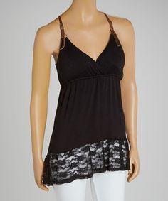 This Black Belt-Strap Molded Cup Tank by Basix of America is perfect! #zulilyfinds