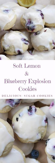 How To Make Soft Lemon Blueberry Explosion Cookies Cooking Mama Recipe Lemon Blueberry Cookies, Blueberry Desserts, Lemon Cookies, Lemon Cookie Recipe, Blueberry Lemon Recipes, Blueberry Trifle, Lemon Dessert Recipes, Cookie Recipes, Dessert Oreo