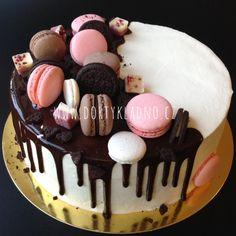 Moje dorty | Dorty, makronky, cupcakes, dětské, narozeninové, svatební Drip Cakes, Cake Creations, Chocolate Cake, Cake Toppers, Tea Party, Pavlova, Food And Drink, Birthday Cake, Baking