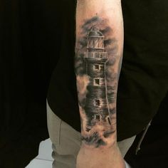 Added some ink today  @tatuadornato #Tattoo #Lighthouse #Ink #Nauticaltattoo #Nautical