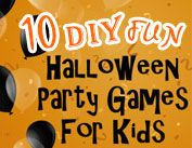 {DIY Fun Halloween Party Games for Kids} Here are some frugal, fun and easy kid-friendly Halloween party game ideas that will make all your little ones explode with laughter at your Halloween party. #DIYHalloweenPartyGamesforKids #HalloweenPartyGames #TickledMummyClub