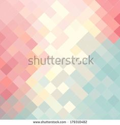 Vector background in pastel colors. Geometric trendy pattern. Modern stylish texture by missis, via Shutterstock