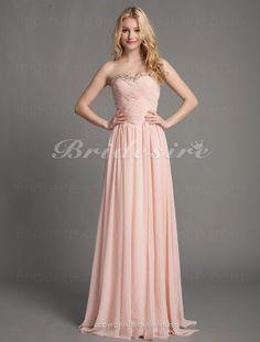 Sheath/Column Chiffon Sweetheart Floor-length Evening Dress With Criss-Cross Bodice - $117.99