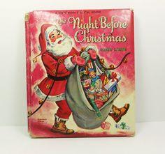 The Night Before Christmas 1966 Whitman Pillow by naturegirl22