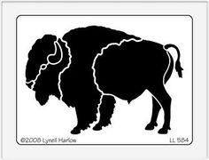 buffalo Stencil   Dreamweaver Large Brass Stencil - Buffalo