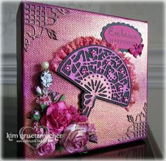 Canvas I altered using many Luminarte products and the NEW Dies by SCACD!