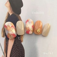 Make an original manicure for Valentine's Day - My Nails Stylish Nails, Trendy Nails, Cute Nails, Water Color Nails, Gel Nail Colors, Uñas Fashion, Manicure Y Pedicure, Girls Nails, Japanese Nails