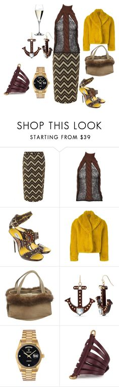 """""""Untitled #6639"""" by billyblaze ❤ liked on Polyvore featuring Dorothy Perkins, Laura Biagiotti, Jimmy Choo, Jean-Paul Gaultier, Manolo Blahnik, Betsey Johnson, Rolex and Riedel"""