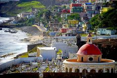 19 most charming places in the world -- Old San Juan, Puerto Rico. Though technically part of the Puerto Rican capital, the island of Old San Juan is it's own small town. European-style cobblestone streets a. Beautiful Places To Live, Oh The Places You'll Go, Places To Travel, Places To Visit, Vacation Destinations, Dream Vacations, Vacation Spots, Puerto Rico Trip, San Juan Puerto Rico