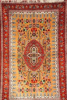 Seiden Ghom fein, Persien, ca. 30 Jahre, reine Naturseide, ca. 154 x 100 cm, ca. 800.000 Kn/qm, EH —
