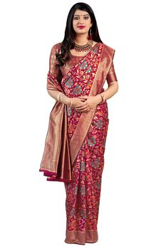 Shop dark pink banarasi art silk designer konrad saree , freeshipping all over the world , Item code New Saree Designs, Art Silk Sarees, Latest Sarees, Pakistani Dresses, Sari, Best Sellers, Beige, Blouse, Indian Weddings