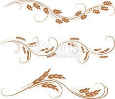 wheat ornaments stock vector art 23003458 - iStock