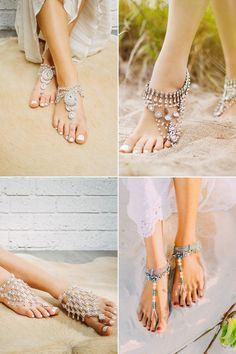 Barefoot Wedding Sandals for Beach Weddings - Wedding Tips 101 Beach Wedding Sandals, Beach Shoes, Beach Weddings, Wedding Beach, Beach Wedding Footwear, Chic Wedding, Unique Weddings, Destination Wedding, Isadora Duncan