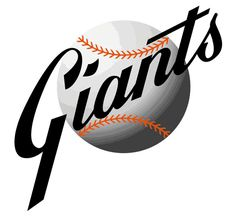 San Francisco Giants Primary Logo (1958) - Giants scripted in front of a white baseball