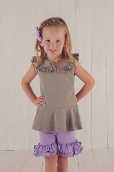 Ruffle shorts are a staple in all of our little girls' wardrobes. They are cute, they are comfy and they can go under nearly any top or dress. Our ruffled shorts are a great option, as we meet the cute and comfy standards, but also have a variety of colors, meaning that a match can be found for almost any top you can find.      https://adorableessentials.com/collections/shorts/products/girls-ruffle-shorts-size-10-only?variant=46207651081