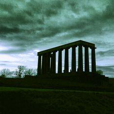 Edinburgh's disgrace, Calton Hill, Edinburgh, Scotland