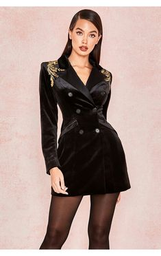 db463e26f842 Blazer Dress, Classic Chic, Stage Outfits, Dress Outfits, Dresses, Black  Velvet