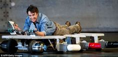 Richard Hammond shows his own special use for an ironing board     #TopGear