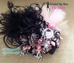 Zebra funky loopy hair bow!!  https://www.facebook.com/bowmakindiva/photos/a.875801882459056.1073741881.664051576967422/875809949124916/?type=3&theater