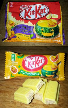 Pumpkin Pudding - Japanese Kit Kat Halloween 2013 | Package and chocolate | Flickr - Photo Sharing!