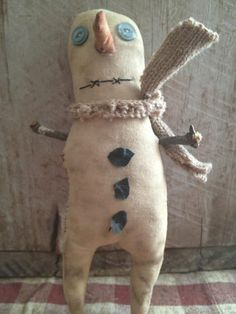 Primitive Snowman Dirty Snowboy Ready to Ship by Rabbithollowprims, $10.00