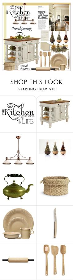 """Casual Elegance Kitchen"" by orietta-rose on Polyvore featuring interior, interiors, interior design, home, home decor, interior decorating, WALL, Home Styles, ELK Lighting and Palecek"