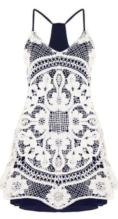 Crochet Overlay Tank Dress
