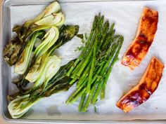 Glazed Salmon and Bok Choy Sheet Pan Dinner Recipe   Food Network Kitchen   Food Network