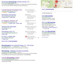 """Infront Webworks client Colorado Dermatology Institute ranking first page of Google under term """"Colorado Springs Dermatologists""""."""