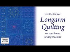 Save Money: Quilt it Yourself on Your Home Sewing Machine - YouTube