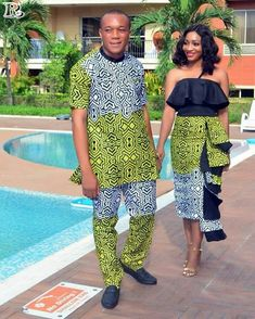 The most trendy and beautiful ankara styles and designs outfit for couples compilation. These ankara designs for couples were particularly selected for you and your partner. Couples African Outfits, Couple Outfits, African Attire, African Wear, African Women, African Dress, African Style, African Fashion Designers, African Print Fashion