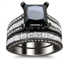 List of pretty & affordable black diamond engagement rings