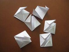 Dados de Origami Imprimibles Origami, Coasters, Home Made, Board Games, Paper Crafts, Knowledge, Printables, Paper Envelopes, Coaster
