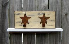 Primitive Wall Rack with Star Hooks  by SuzsCountryPrims