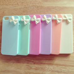 iPhone 5 pastel bow cases ❤