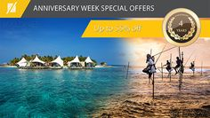 @Anniversary week offer includes BB, HB AI meal plan with return transfers in Maldives or Sri Lanka. Book now & stay till Oct2017. For reservations whatsapp/Viber MV +94770279999 SL +94771679999 #ZeldivaLuxury #Anniversary #heavensonearth   #ZeldivaTravels