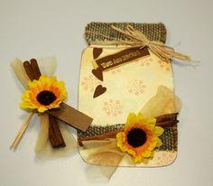 wedding jar, full with sunflowers and cinnamon