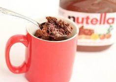 Mugcake Nutella with chocolate chips