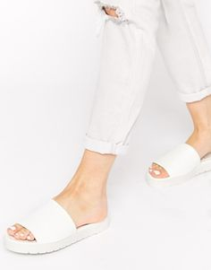 Truffle+Collection+Slide+Flat+Sandals