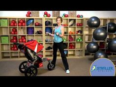 The Plié with Shoulder Extension targets both the upper and lower body. Brought to you by Stroller Strides by Learn more about BOB Strollers at http. Stroller Workout, Bob Stroller, Stroller Strides, Barre Workout, Workout Gear, Gym Workouts, At Home Workouts, Nerd Fitness, Fitness Sport