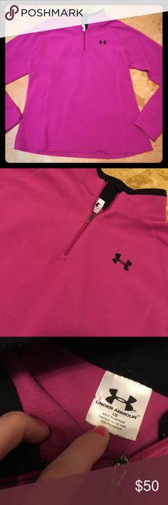 1/19 Under armpit dark pink fleece Under armour dark pink purple fleece. Gently used. Good condition! Under Armour Tops Sweatshirts & Hoodies