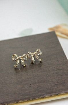 Betsey Johnson Crystal Bow Studs #accessories  #jewelry  #earrings  https://www.heeyy.com/suggests/betsey-johnson-crystal-bow-studs-crystal/