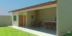 Um site sobre Projetos Arquitetônicos em 3D e criações gráficas diversas Patio Design, Garden Design, Barbecue Garden, Bamboo House, Paint Colors For Living Room, Bbq Grill, Apartment Design, Outdoor Gardens, 3 D