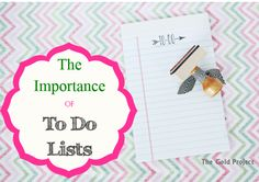 the importance of to do lists