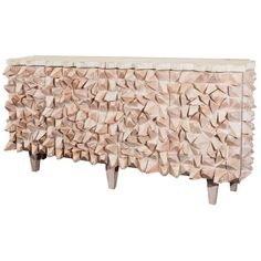 R. Mapache Signed Ceruse Spike Sideboard | From a unique collection of antique and modern sideboards at http://www.1stdibs.com/furniture/storage-case-pieces/sideboards/