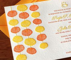 omg! Aren't these embossed marigold strings the prettiest! <3 this new traditional twist :) #IndianWedding #invitation #ideas | Curated by #WittyVows - The ultimate guide for the Indian Bride | www.wittyvows.com