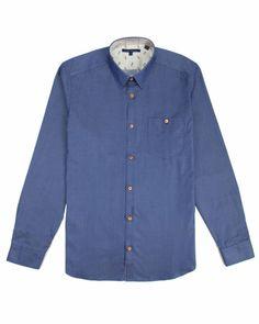 GOODDAY - Chambray shirt - Blue | Men's | Ted Baker UK