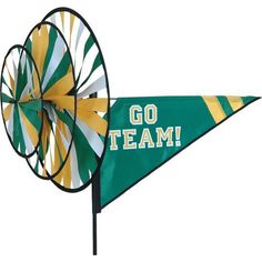 "Green Bay Packers Green & Gold ""Go Team"" Spinner - Fly Me Flag"